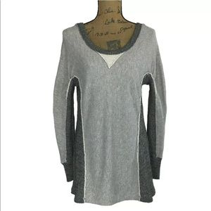 Free People Beach Sweatshirt Top XS Oversized Long